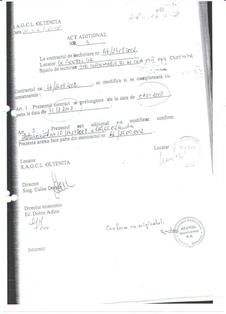 Semnatura reala a fostului director al RAGCL