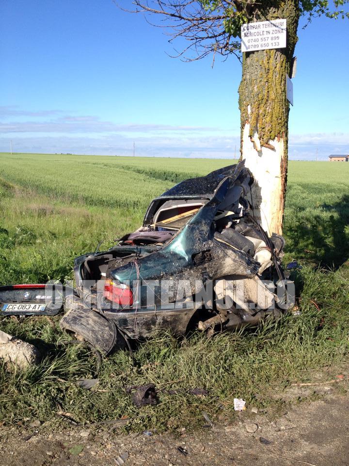 Accidentul s-a petrecut pe DN 4 , intre Frumusani si Popesti-Leordeni